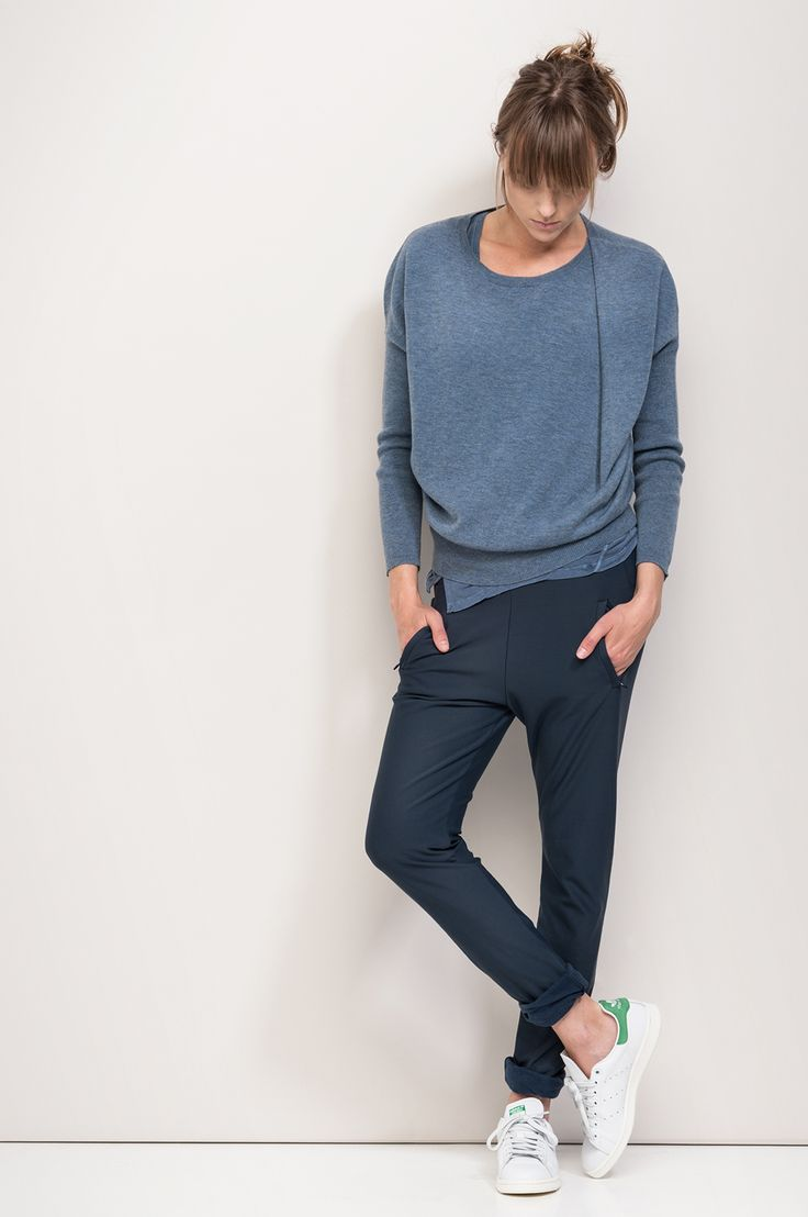 To recreate Humanoid's perfectly casual Fall look Try cabi's At Ease Track Pant and Serenity tee!