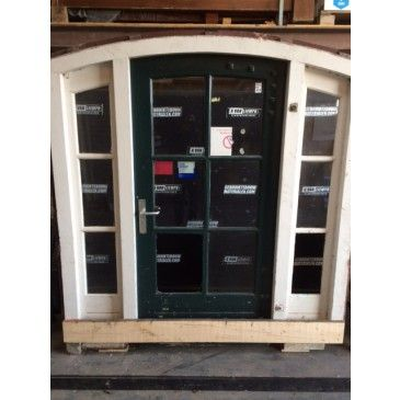 Complete antieke deur met kozijn 202b x 220h