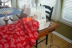 Sewn Fleece Blanket... Matt will be thrilled...