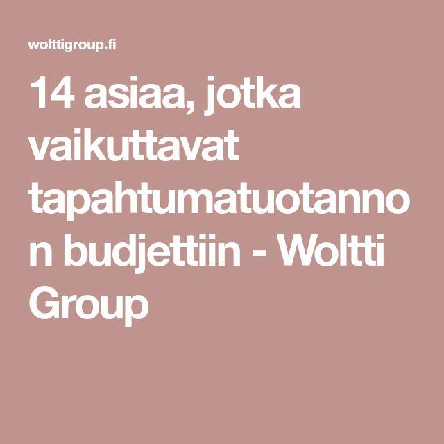14 asiaa, jotka vaikuttavat tapahtumatuotannon budjettiin - Woltti Group