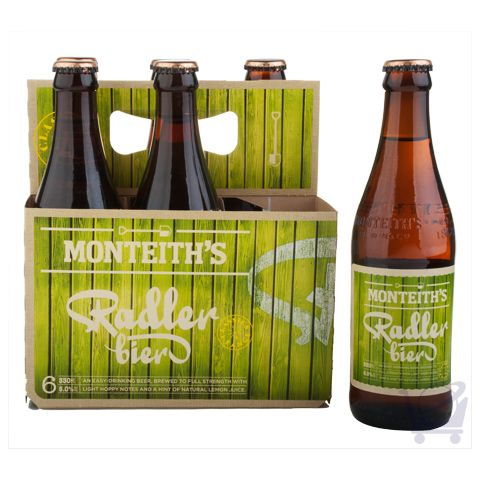 Raddler Bier 330 ml – Monteith's  X 6 Bottles | Shop New Zealand