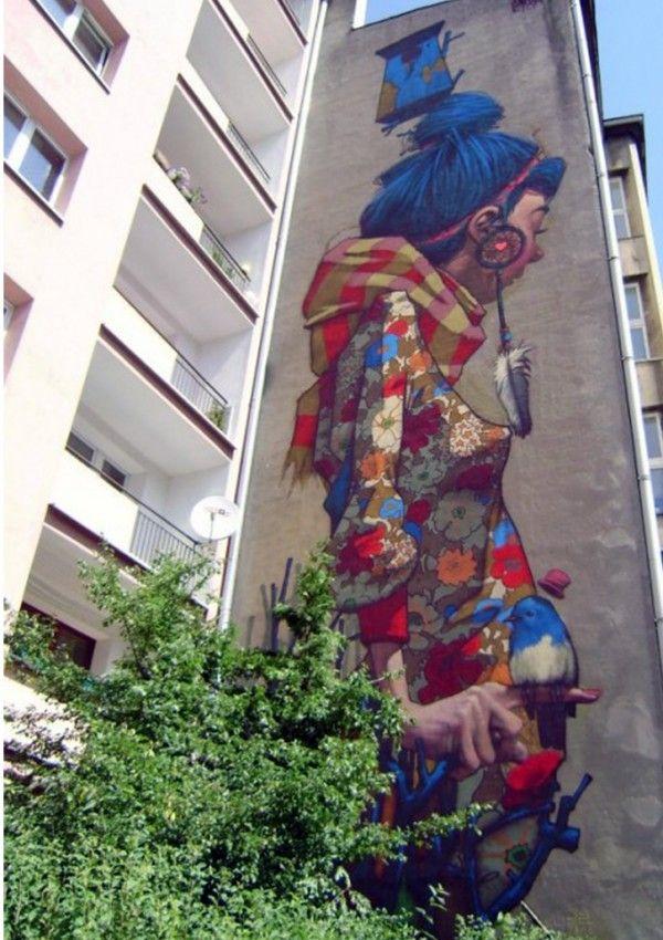 Sainer, Etam Cru, Lodz, PolenIllustration Artists, Urban Art, Magic Art, Street Art, Believed Etam, Sainer Murals, Art De, Poland Streetartnew, Art Attack