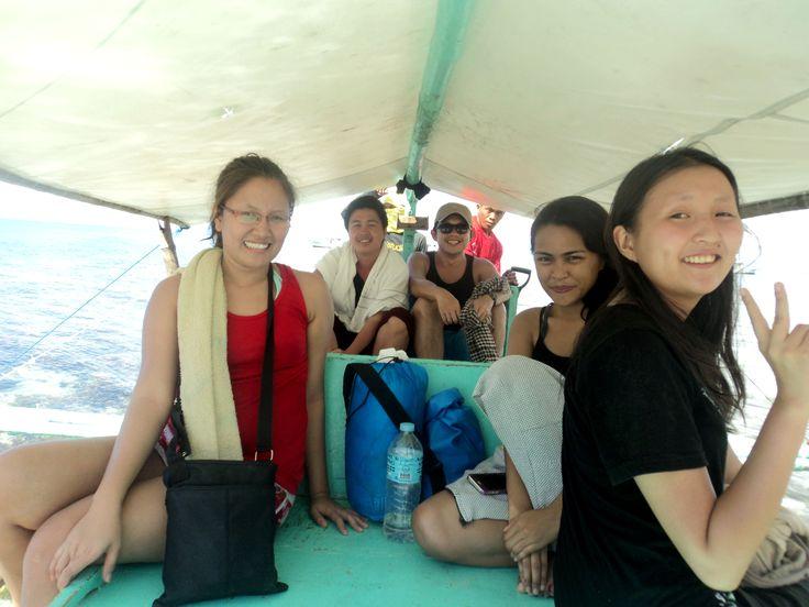 Boat ride to Higatangan Island Leyte