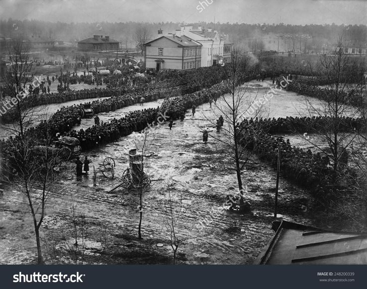 World War 1. 15,000 Russian prisoners taken by the German Eighth Army at the Battle of Augustov fought from October 1-9, 1914. It was the last battle of the Tannenberg campaign.
