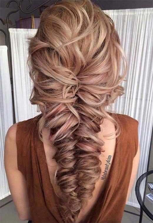 Long Hair Braids: Braided Hairstyles for Long Hair: Messy Chunky Fishtail Braid #LongHair