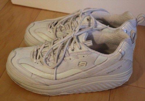 37.10$  Watch here - http://virte.justgood.pw/vig/item.php?t=hji49g41497 - Skechers Shape-Ups White Silver Size 10 toning shoe walking Women's sketchers