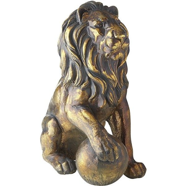 Pier 1 Imports Lion Statue With Right Paw On Ball 215 Cad