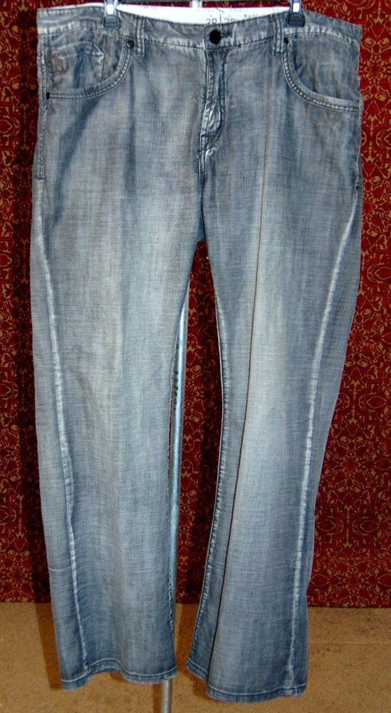 MARC ECKO gray thin cotton boot cut jeans 38/32 (TF-0DC7) #MarcEcko #BootCut