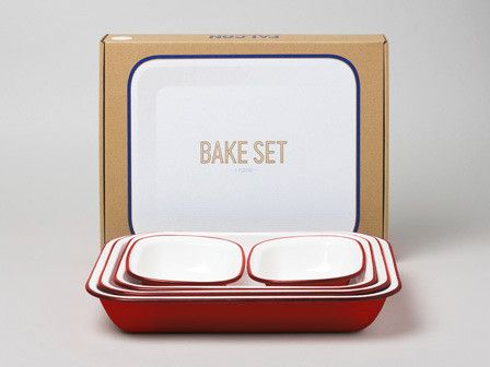 5-piece enamelware bake set