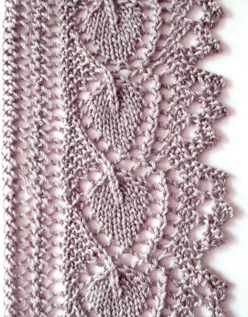 Leaf Lace Edging - Free Pattern | Lace knitting patterns ...