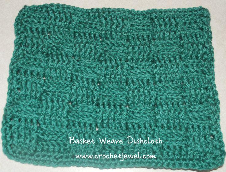 Crochet Basket Weave Dishcloth ~ free pattern