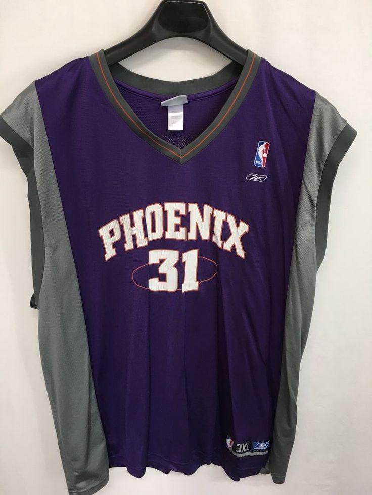 MENS 3XL SHAWN MARION #31 PHOENIX SUNS REEBOK PURPLE GRAY JERSEY NBA #Reebok #PhoenixSuns
