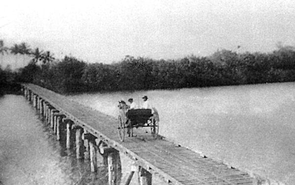 Barron River Bridge Stratford Cairns. Stratford Heritage Trail