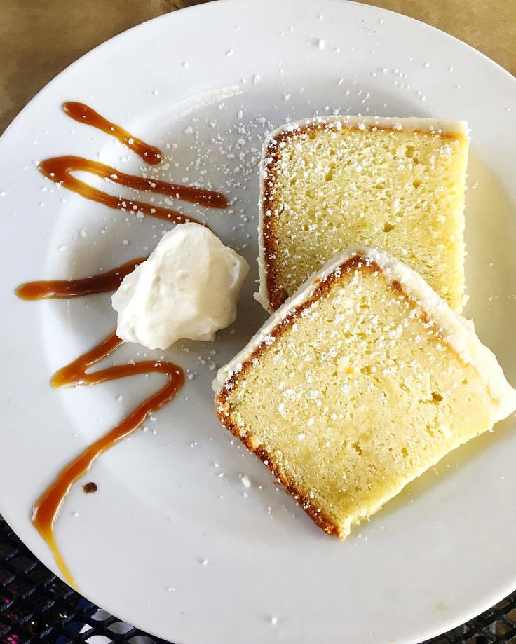 (@joyfullyjulianna) on Instagram: Key lime pound cake from Food Glorious Food in Tallahassee, Fla. 😋🎂🍴