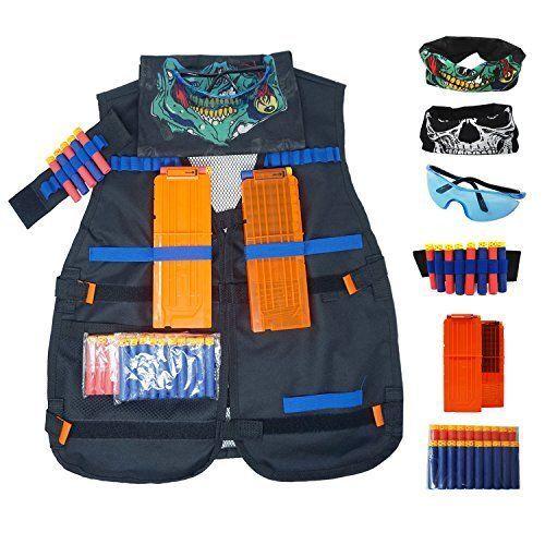 Tactical Vest Jacket Kit Elite for Nerf N Strike Series Black Tactical Vest #TacticalVest