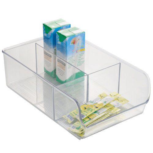Beautiful InterDesign Linus Medium Divided Binz Pantry Organizer Clear InterDesign http