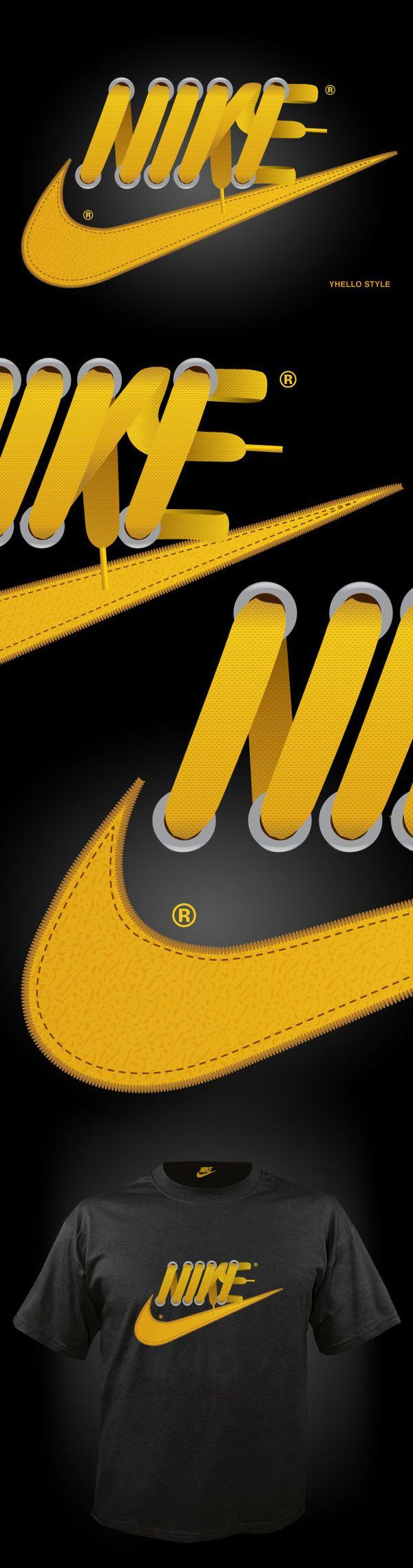"""""""Nike Laces"""" és un treball del dissenyador Hugo Silva, que uneix el logo de Nike amb els cordills de les vambes. (via Abduzeedo Design Inspiration & Tutorials)"""
