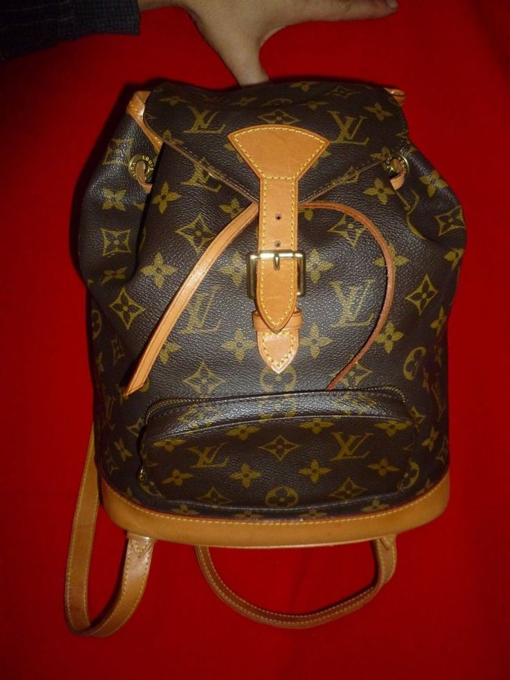 Louis Vuitton Monogram Canvas Montsouris GM Backpack  SD0998 Bag Handbag Purse #LouisVuitton #BackpackStyle