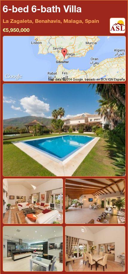 6-bed 6-bath Villa in La Zagaleta, Benahavis, Malaga, Spain ►€5,950,000 #PropertyForSaleInSpain