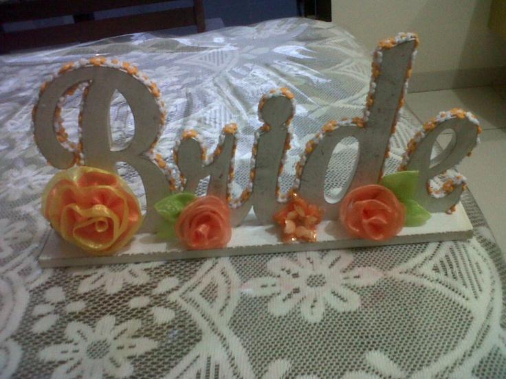bride - wood letter