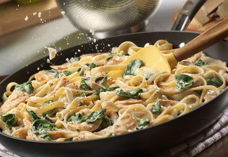 Campbell's Simple Chicken Florentine Alfredo with Fettuccine Recipe