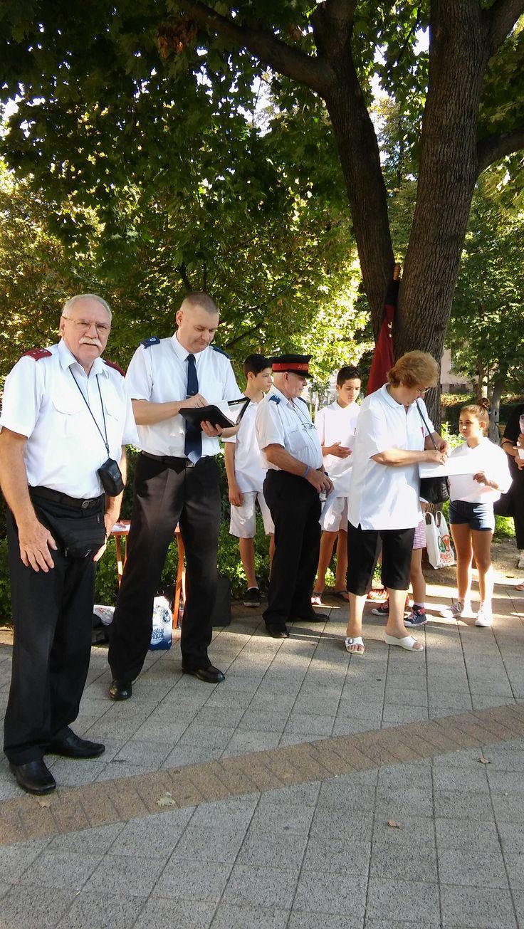 evangelizáció Gyöngyösön, a Bugát Pál téren