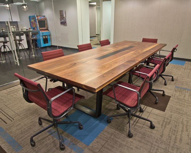 Black Walnut Conference Table At Mission Staff By Rstco