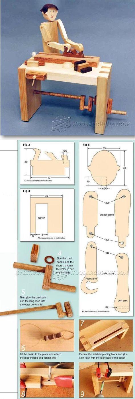 Woodworker - Automata Toy Plans - Children's Wooden Toy Plans and Projects   WoodArchivist.com   WoodArchivist.com