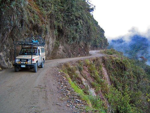 North Yungas Road Bolivia. The most dangerous road on the planet.
