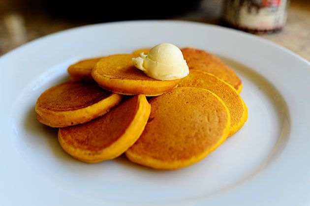 Silver Dollar Pumpkin Pancakes - Thank you Pioneer Woman!