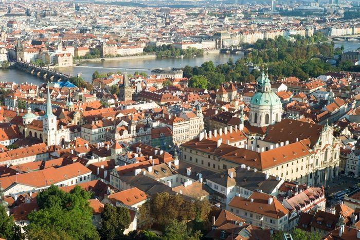 Westliche Zwillingstürme, Prager Burg, Hradschin, Prag, Fototapete, Merian, Fotograf: N. Kriwy