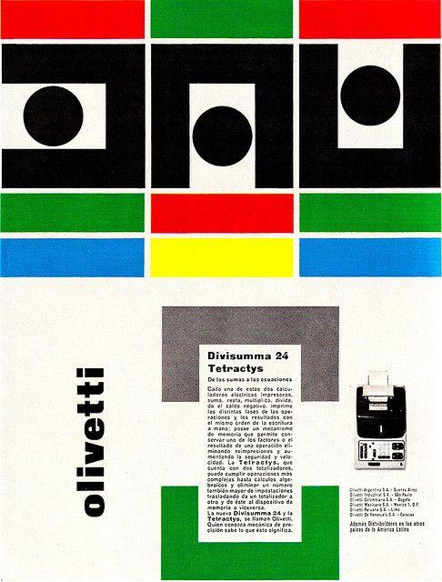 Giovanni Pintori Olivetti Ad From Graphis Annual 63/64.