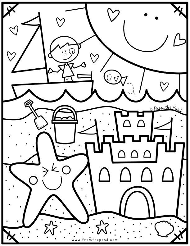 Coloring Club From The Pond Summer Coloring Sheets Preschool Coloring Pages Summer Coloring Pages