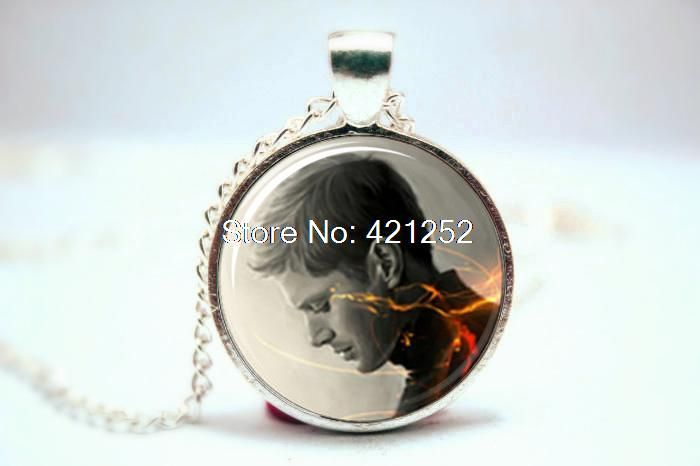 Supernatural Inspired Dean Necklace  Glass Photo Cabochon Necklace
