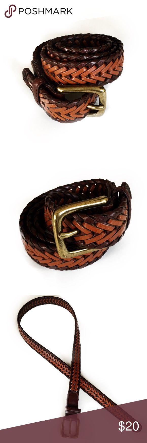 """Boy's Braided Brown Faux Leather Belt L 28-30"""" Boy's Braided Tan/Brown Faux Leather Belt L 28-30"""" - EUC Accessories Belts"""
