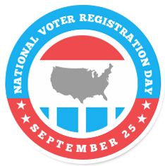 National Voter Registration Day is September 25, 2012   Are you registered to vote? There ARE deadlines (which vary by state). Volunteers, celebs and org's will be out en force to help you get it done. www.nationalvoterregistrationday.org (@925NVRD on Twitter - hashtag #925NVRD)