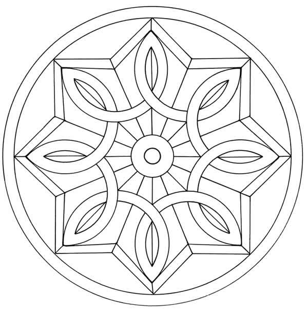 coloring pages geometric staind glass - photo#26