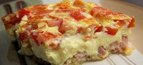 Een lekker koolhydraatarm hoofdgerecht, omelet uit de oven. Heerlijk ei recept met cheddar en mozzarella kaas.