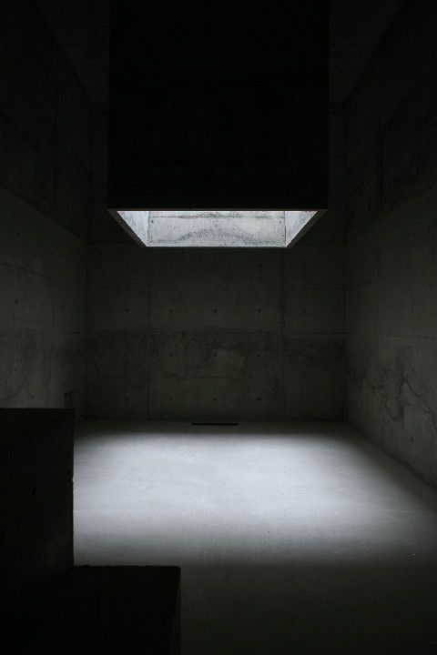 Uno Tomoaki's Temple House. Light comes from above.
