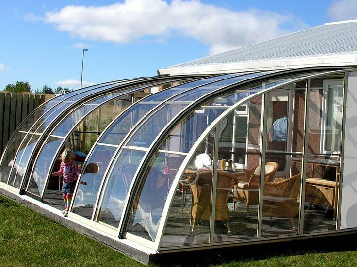 Terrace enclosure CORSO ENTRY | Photogalleries fully openable / retractable, child proof, no need to hide your furniture, lockable