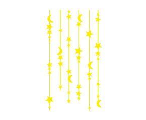 Adesivo fluorescente in pvc Tenda di stelle giallo - 30x60 cm
