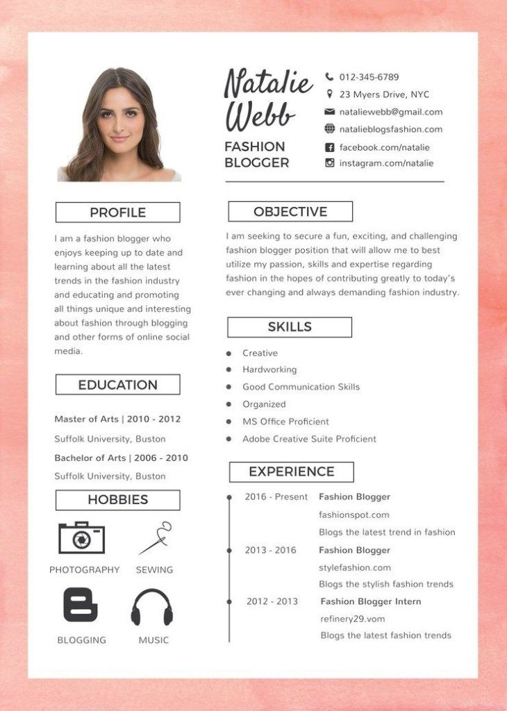Free Best Fashion Resume Cv Template In Photoshop Psd Desain Resume Desain Cv Cv Kreatif