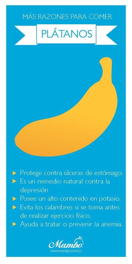 Beneficios del plátano www.mambo.com.co Frutas y verduras Mambo