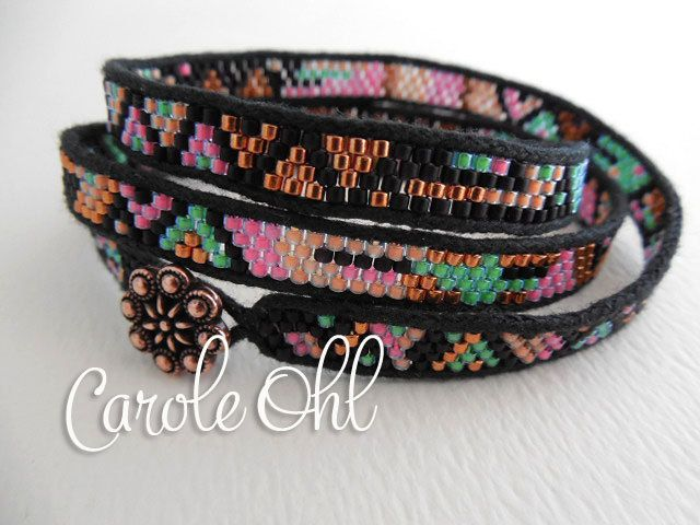Skinny Wrap Bracelet Tutorial by Carole Ohl by openseed on Etsy