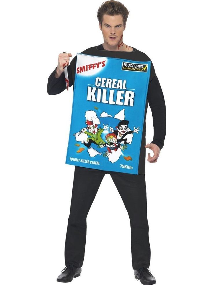 Cereal Killer Costume, Blue, with Tabard