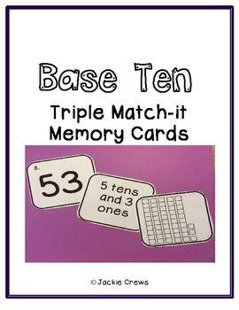 Copy, cut, laminate, and go! Basic but very useful! This is the perfect hands on support for students who are learning tens and ones with expanded notation.  Just laminate the cards and work mats and put in your math center tub or zip bag. Add your own base ten blocks and it's a complete center.