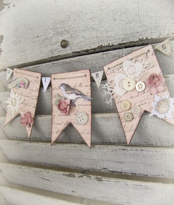 Handmade Spring Bird Banner
