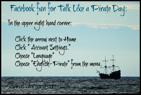 Did you know that today is officially Talk Like a Pirate Day?    Here are some fun & FREE pirate activities:    Pirates of the Caribbean Activity Pack    Jake and the Neverland Pirates Activities