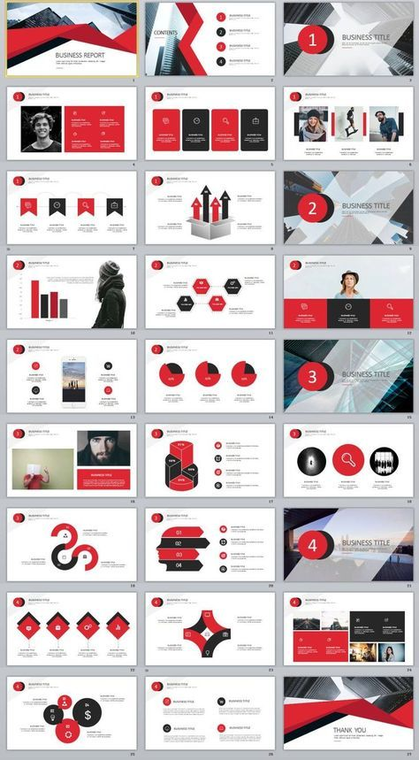 27+ Red Business chart PowerPoint Presentations template Pinterest