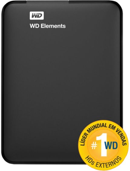 [Saraiva] HD Portátil WD Elements Preto 1Tb USB 3.0 - R$ 177 em 1x